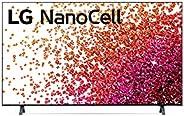 "2021 Smart TV LG 50"" 4K NanoCell 50NANO75 3x HDMI 2.0 Inteligência Artificial ThinQAI Smart Magic Google"
