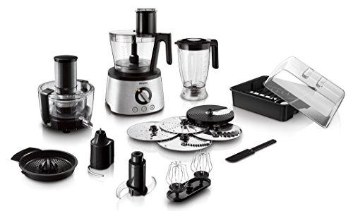Philips HR7778/00 Küchenmaschine (30 Funktionen, Entsafter, 1300 Watt) schwarz/silber