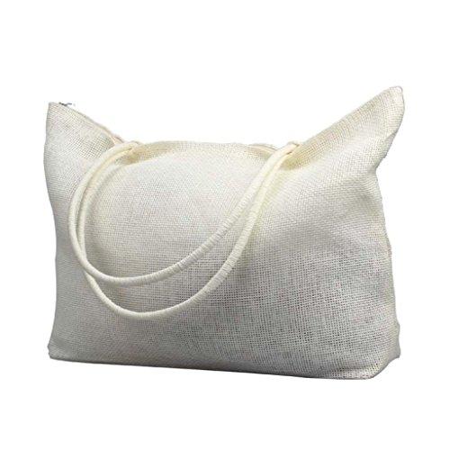 Blanc Blanc Casual Plage Sac Femmes bonbons paille Simple de Tonsee épaule sacs grands couleur de O6wTxqv