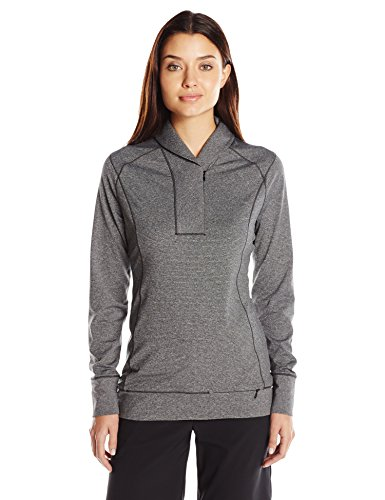 Cutter & Buck Women's CB Drytec Shoreline Half-Zip Pullover, Charcoal Heather, XXL