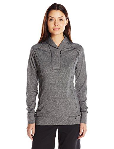 Cutter & Buck Women's CB Drytec Shoreline Half-Zip Pullover, Charcoal Heather, XXL Cutter & Buck Golf Pullover