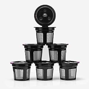 C Five Sostituzione filtri caffè compatibili per Macchina da caffè Filtri caffè K-Cup riutilizzabili 1.0 e 2.0, K200…