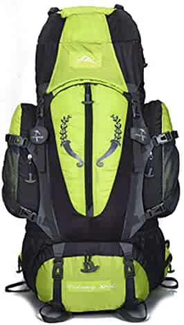 Black Outdoor Travel Backpack CHBAOZI Hiking Backpack Gray Color : Gray, Size : 60L Men and Women Large Capacity Ultra Light Casual Light Waterproof Outdoor Mountaineering Bag 50L // 60L