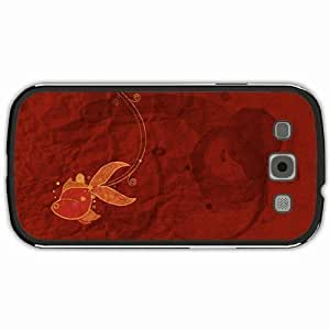 New Style Customized Back Cover Case For Samsung Galaxy S3 Hardshell Case, Black Back Cover Design Fish Personalized Unique Case For Samsung S3
