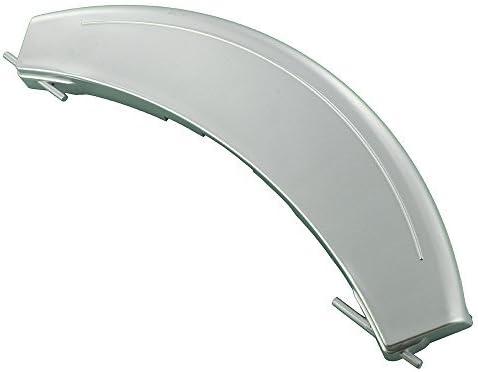 Europart - Manilla de plástico para puerta de lavadora compatible con BSH Bosch WAE Maxx 7 VarioPerfect/WM14E iQ300 VarioPerfect Series, color plateado