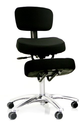 BetterPosture JAZZY Kneeling Chair with Back - Black