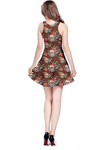 Skulls Sleeveless Womens Scarry Grunge Bones 2 CowCow Creepy Dress Gothic Dark XS Weirdo Horror Skeleton 5XL Brown qHgCnPEw
