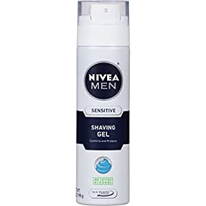 NIVEA FOR MEN Sensitive, Shaving Gel 7 oz (Pack of 3)