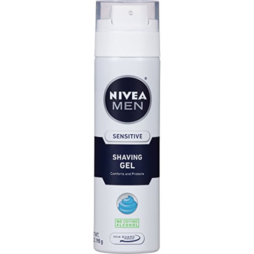 NIVEA FOR MEN Sensitive, Shaving Gel 7 oz (Pack of 3) by Nivea Men