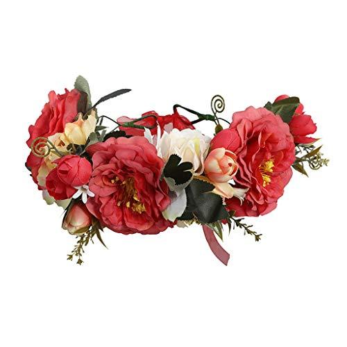 Handmade Flower Crown for Women Floral Garland Headband
