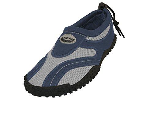 Wave Men's Waterproof Water Shoes, Navy/Grey, 10 D(M) US