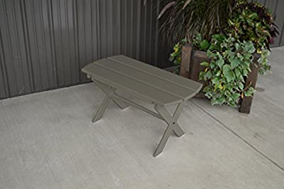 Yellow Pine Outdoor Folding Coffee Table Amish Made in the USA - Olive Gray Paint