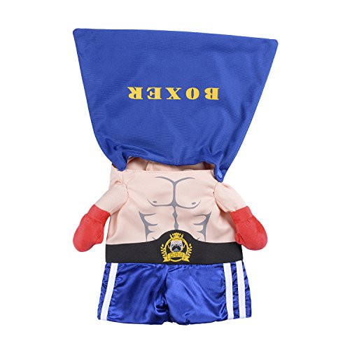 Boxer Halloween Costume For Dog (Woo Woo Pets Boxer Shaped Clothes Festival Costumes Halloween Cosplay Apparel for Pets)