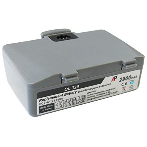 Artisan Power Zebra/Comtec QL320 and QL220 Printer: Replacement Battery. 2900 mAh