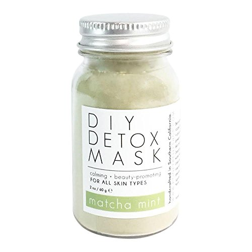 MATCHA GREEN TEA DETOX FACE MASK, Natural DIY Facial Mud Mask, Improves Complexion, Removes Blackheads, Removes Blemishes, Reduces Wrinkles, Nourishing, Moisturizing, Anti-Aging, By Honey Belle