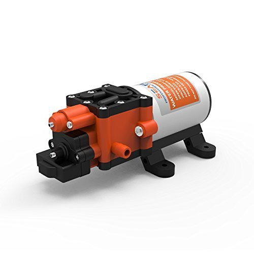 SEAFLO Diaphragm Pump 12V 100 PSI 1.3 GPM 5.0 LPM Water Pressure Pump for Caravan/RV/Boat/Marine