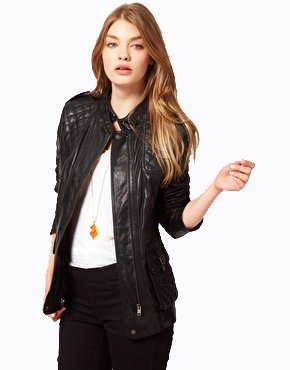 Urbancode black leather jacket
