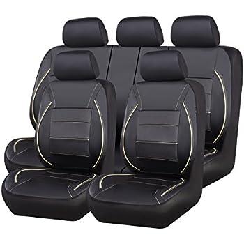 Amazon Com Car Pass Universal Pu Leather Car Seat Cover Set Black