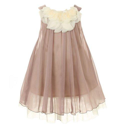 (Kids Dream Toddler Girls 2T Mocha Floral Lace Bodice Easter)