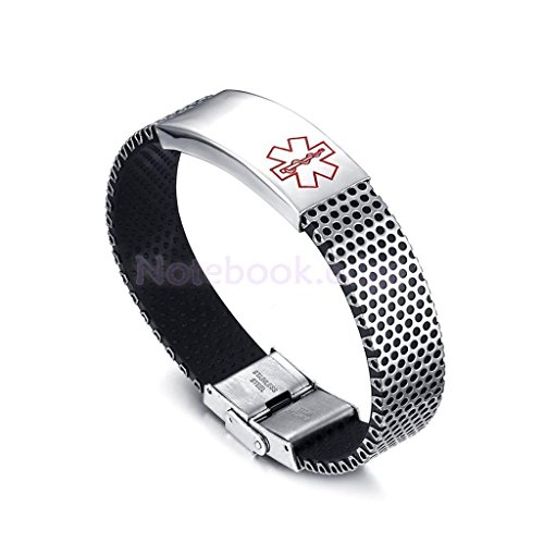 Engraving Emergency Alert Medical ID Stainless Steel Bracelets - Ice Id Bracelets
