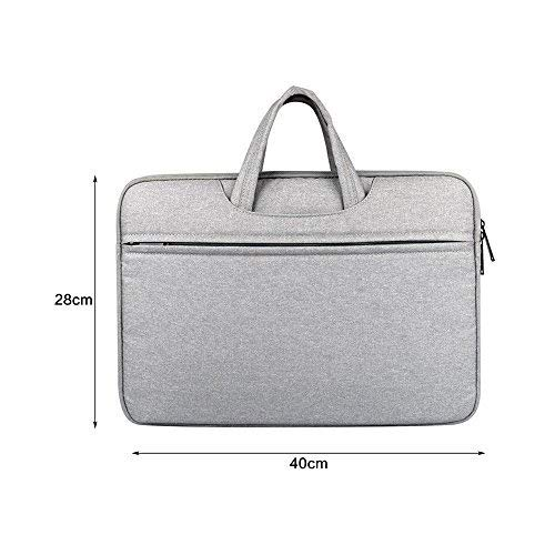 Xhuan 1Pc Stylish Women Men Laptop Briefcase Messenger Bag Tablet Document Carry Travel Office Navy( )