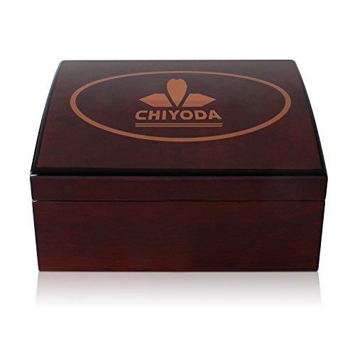 - CHIYODA CHIYODA 100% Handmade Spanish Cedar Thick Wood Humidor Case Cigar Storage Box