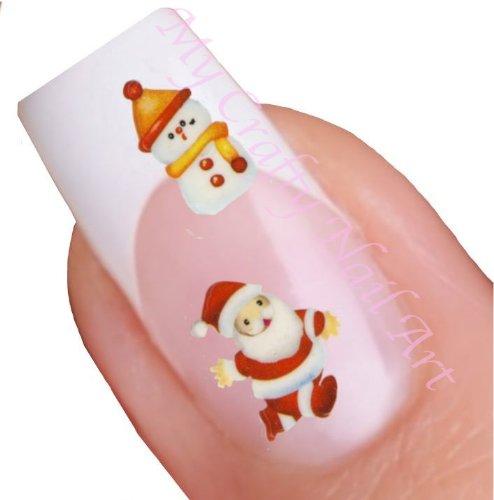 Noël adhésifs autocollants pour nail art – Père Noël , bonhomme de neige