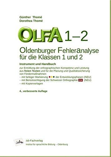 OLFA 1-2. Oldenburger Fehleranalyse für die Klassen 1 und 2: Instrument und Handbuch