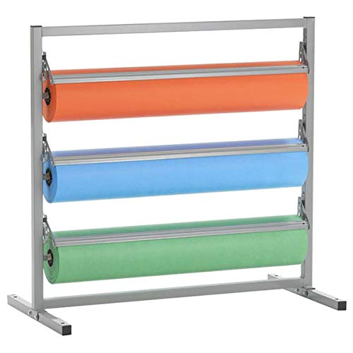 """TableTop King T343R-27 27"""" Three Deck Tower Paper Rack with Serrated Blade"""