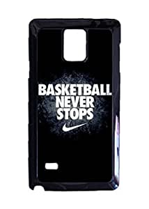 Basketball Never Stops Spotr Quotes Poster Photo Hard Case , Fashion Image Case Diy, Personalized Custom Durable Case For Samsung Galaxy Note 4