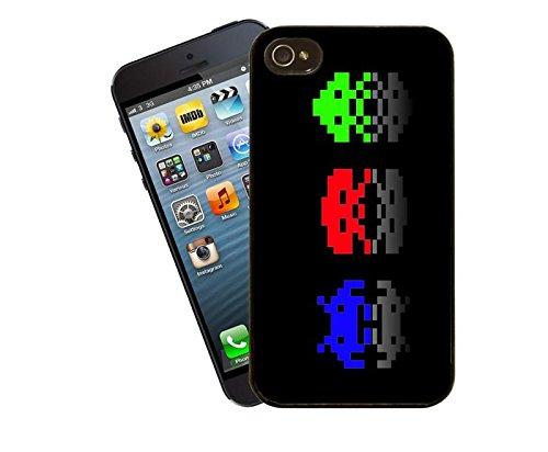 Space Invaders-Telefon-Gehäuse-Design für iPhone 4 / 4 s - Cover von Eclipse-Geschenkideen
