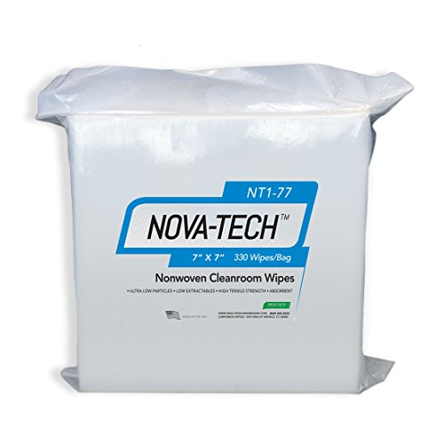High-Tech Conversions NT1-77 NOVA-TECH Lint Free Nonwoven Cleanroom Wipe, 7