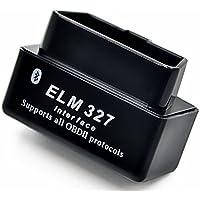 Eunavi Auto Diagnostic Scanner Tool Bluetooth 1.5 OBD2 OBD ELM327 Scanner Check Engine Light OBDii Bluetooth Car Diagnostic Scan Tool for Android Devices