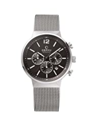 OBAKU V180GCCBMC Men's Black Dial Classic Chronograph Watch with 3 Hands