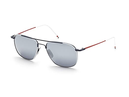 35d951884ac THOM BROWNE TB 103 B-WHT-NVY-RED White-Navy-Red w  Dark Grey-Silver ...