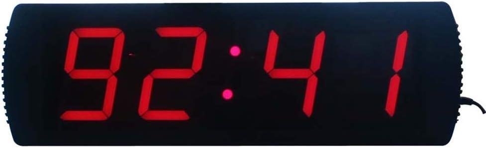 カウンター デジタイマ リモート大デジタルLEDトレーニングタイミングクロック付き多機能カウントダウンタイマージムストップウォッチ タイマー バイブ (色 : ブラック, サイズ : 50.5X16X4CM) ブラック 50.5X16X4CM