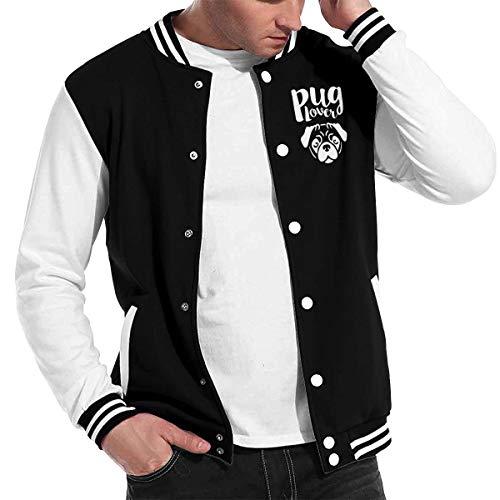 Pug Love Dog Long Sleeve Baseball Jacket Sweater Coat