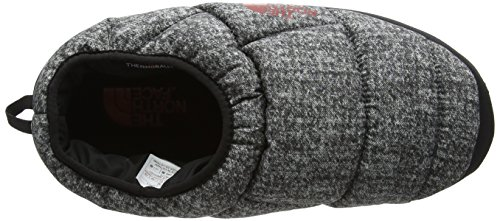 Mens The North Face Nse Tent Mule Slippers Iii Slippers Water Resistant Phantom Gray Heather Print / Ketchup Red