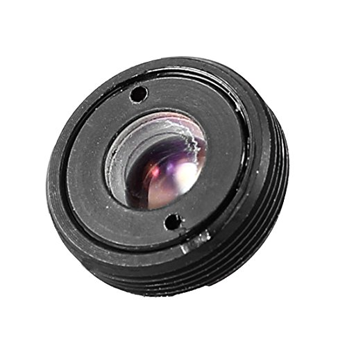 (uxcell Black CCTV Box Camera 3.7mm Pinhole Focal Length Cone Board Lens F2)