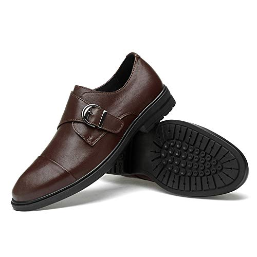 Brown Unicolores Chaussures Slip Pour On Simple Classique Hommes Habillées Oxford Iwgr Casual x86wdUP