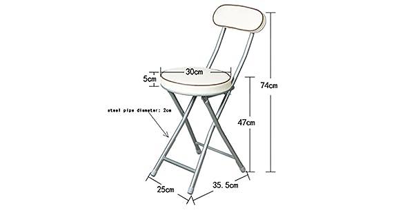 Amazon.com: Respaldo taburete silla plegable silla portátil ...