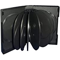 10 Black 14 Disc DVD Cases