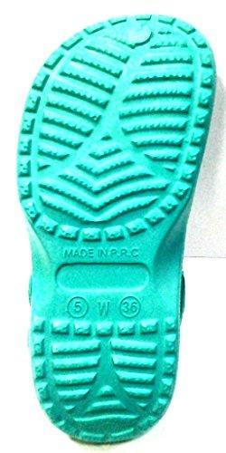 DEMA pantofole ciabatte donna in GOMMA mod. CROCS verde acqua
