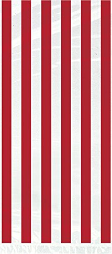 Red Striped Cellophane Bags, 20ct
