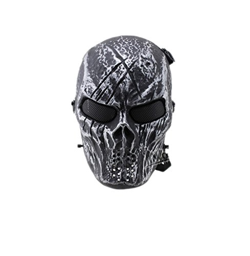 Paintball Full Face Mask Army Games Mesh Mask for Halloween Cosplay Party (Army Face Paint Costume)