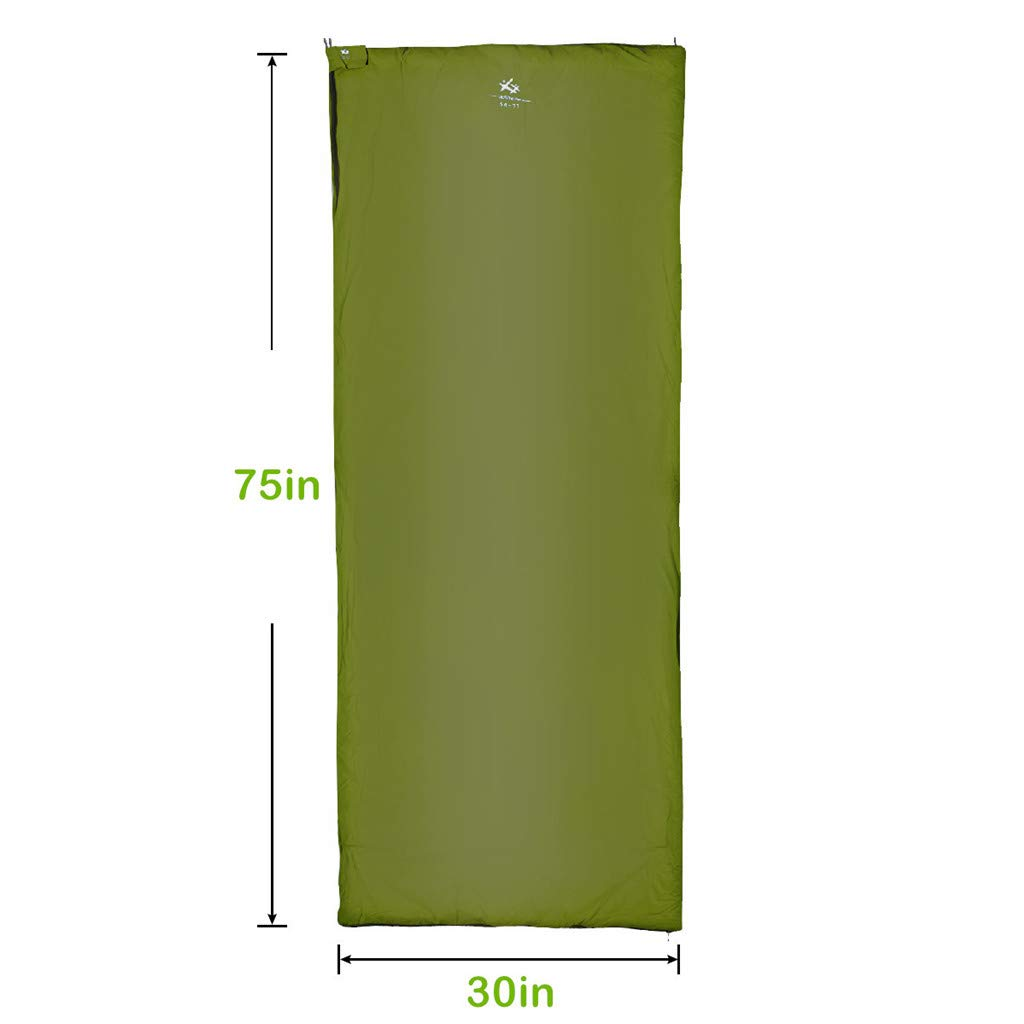 BESTEAM Ultralight Warm Weather Envelope Sleeping Bag, 75 L x 30 W, Outdoor Camping, Backpacking Hiking – Fit for Kids, Teens and Adults – Spring, Summer Fall – Waterproof Compact