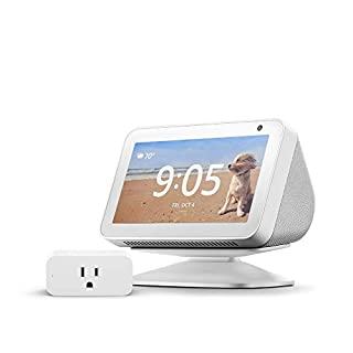 Echo Show 5 Sandstone with Adjustable Stand and Amazon Smart Plug