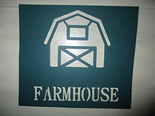 Vintage look FARMHOUSE barn old timey font primitive farm house cardstock STENCIL for painting on wood, paper, fabric. ASK 4 CUSTOM SIZE ()
