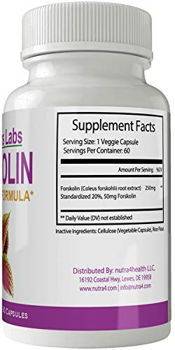 Nutra Leans Labs Forskolin for Weight Loss Pills Tablets Supplement - Capsules with Natural High Quality Forskolin Extract by nutra4health LLC (Image #1)