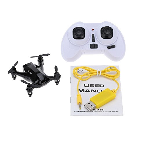 Qsmily® XINLIN X165 RC Mini Drone Remote Control Helicopter Nano Hexacopter 2.4GHz 6 Axis Gyro 3D Roll Quadcopter (Black) by Qsmily (Image #3)